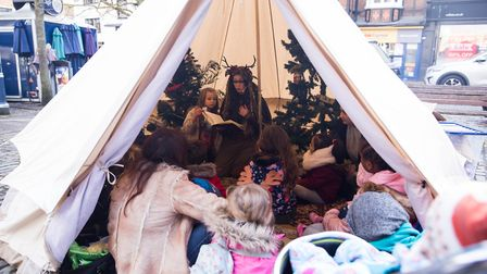 Hundreds of youngsters and parents got creative at Hitchin's first Eco Grotto at the weekend. Pictur