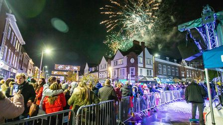 Hundreds of families embrace the festivities at Letchworth's Christmas lights switch-on. Picture: Ji