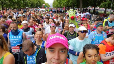 Anthony starting the London Marathon earlier this year. Picture: Supplied.