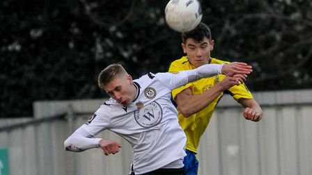 Jamie Fielding in action for St Albans City against Hungerford Town. Picture: JIM STANDEN