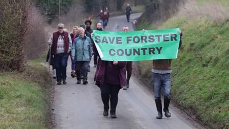 The annual walk this year was more akin to a protest march, calling for Forster Country to be saved.
