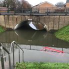 Residents say the Clovelly Way underpass has been flooded for months. Picture: Ross Upchurch