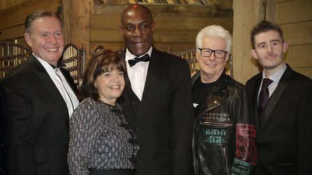 Boxer Frank Bruno joined guests of the Stevenage Community Trust for its annual dinner and dance eve