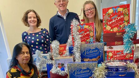 The Christmas Community Team are hoping to deliver 120 hampers this festive season. Picture: Phil Ja