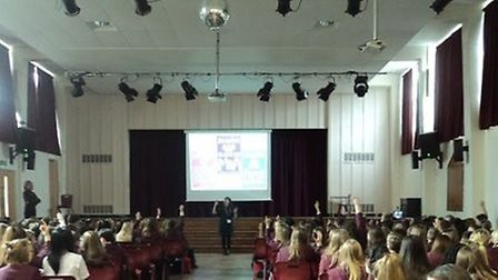 Students attending the event at Helena Romanes School. Photo: CONTRIBUTED.