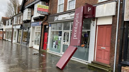 A dismantled shop front in Letchworth town centre. Picture: Barry Fletcher