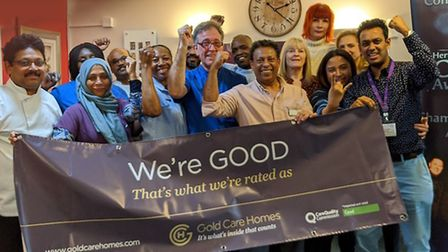 The award-winning team at Gold Care Homes. Picture: Gold Care Homes.