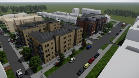 An artist impression of the proposed redevelopment of Westmill's John Barker Place. Picture: Settle