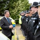 Police and Crime Commissioner David Lloyd with new Herts Police officers. Picture: Herts Police