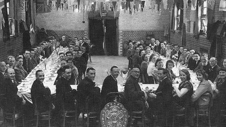 Annual dinner held at Weston Village Hall, 1949. Picture: Judith Evans