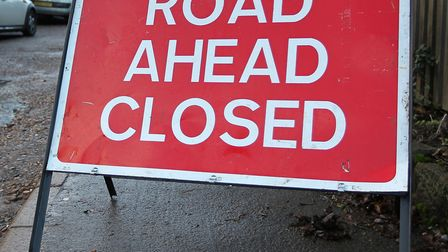 The A507 has been closed following the crash at Stofold. Picture: Danny Loo.