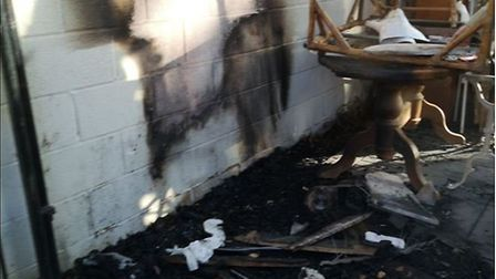 Green House Market suffered serious fire damage after being targeted by an arsonist last week. Pictu