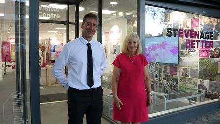 The new Visitor Centre in Stevenage town centre has been opened to keep residents up to date about t