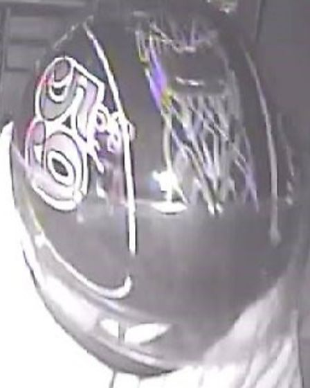 Police would like to speak to anyone who recognises this crash helmet. Picture: Herts police