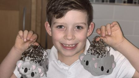 Eight-year-old Devon has raised over £1,000 for Australian animal rescue charity WIRES. Picture: Kim