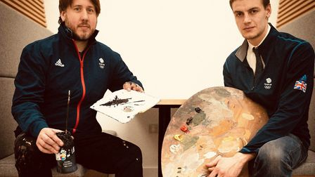 Ben Mosley (left) has been chosen as one of two Artists-in-Residence for the Tokyo Olympic Games. Pi