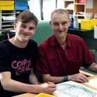 James Dodd (left) has secured employment as a residential support worker at Orchard House in Letchwo