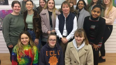 A-level art students at The Highfield and Fearnhill schools. Picture: Jacob Savill