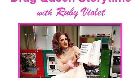 Drag Queen Storytime is scheduled for Hitchin Library next month. Picture: Hitchin Library/Facebook