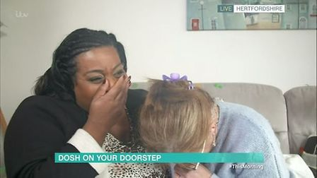 Melissa, from Ascot Drive in Letchworth, won £2,000 on last Thursday's episode of This Morning. Pict