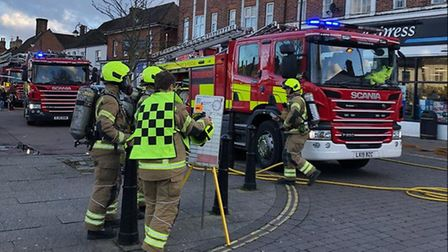 The scene in Stevenage Old Town this afternoon. Picture: Julie Lucas