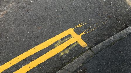 Yellow lines and other parking restrictions could be coming to Moormead Close, Hitchin. Picture: Mat