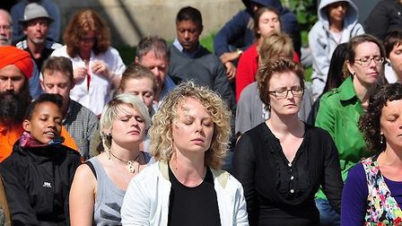 Hitchin will host its first flashmob meditation in Market Place on Sunday. Picture: Kenneth Bok/Flic