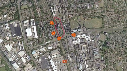 The Icon site in Stevenage, where there are plans to build seven high-rise flat blocks.