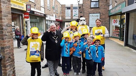 The 1st Royston Beaver Scouts raised £343 for Marie Curie. Picture: Mel Davies