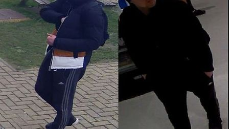Bedfordshire police have released CCTV images following the incident. Picture: Beds police