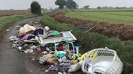 NHDC reported a 34% rise in fly-tipping offences last year. Picture: Kathy Bearman