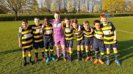 Trotts Hill's Year 6 football team won the double last year. Picture: Courtesy of Liz Evans.