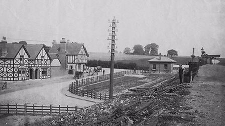 The Station pub was one of the first buildings built in Knebworth in the 1880s. Picture: Courtesy of