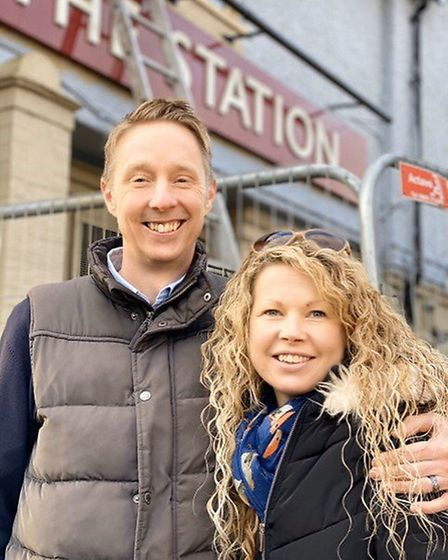 Lloyd and Becky Willis are set to run The Station pub when it reopens shortly. Picture: Courtesy of