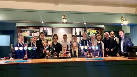 The opening night of the revamped Station pub in Knebworth - following its closure three years ago a