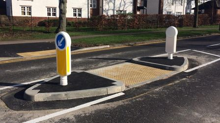 The first crossing installed last week by Ridge Road and Protea Way. Picture: Jacob Savill