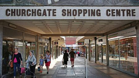 The future of Churchgate Shopping Centre will be discussed at NHDC's public forum in March. Picture: