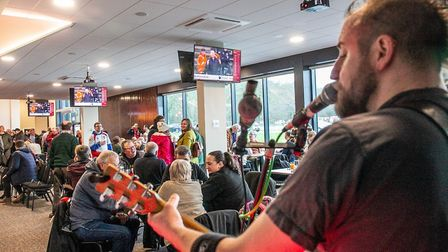 Stevenage FC celebrated the opening of the new facilities with a bondholder party on saturday