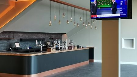 The eight metre copper bar at 76 Lounge