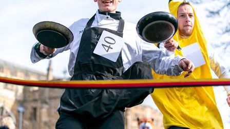 Hitchin Pancake Fayre and Races 2020. Picture: Martin Wootton