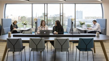 The space is designed to create a calm, relaxing and stimulating working environment. Picture: Mantl