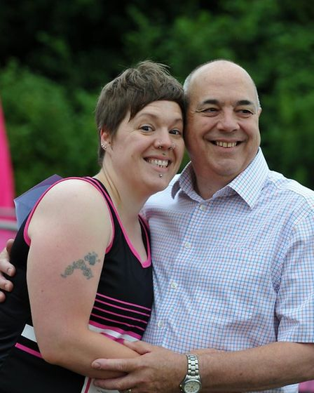 Vicky, pictured here with her late dad Mick, was extremely close to her family.