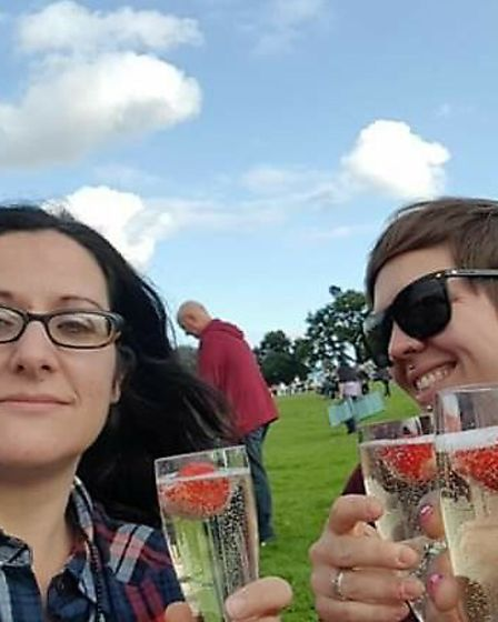 Vicky (right) was making plans to celebrate her 40th birthday with wife Naomi. Picture: Courtesy of