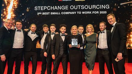 Step Change Outsourcing, from Hitchin, were ranked as the third best small company to work for. Pict