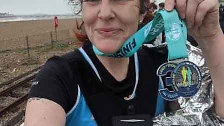 Helena achieved a personal best at the Brighton Half Marathon - which she took on as part of her tra