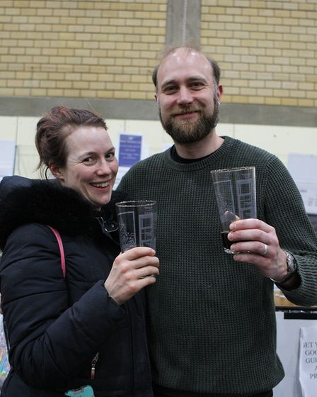 Stevenage Beer and Cider Fest 2020 - Holly Rolfe and Nick Price from the Letchworth Garden City Brew