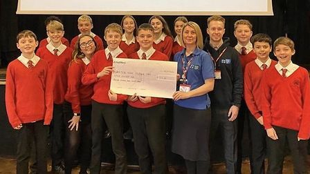 Pupils from the Priory School, Hitchin raised £1,700 for Letchworth charities. Picture: Supplied