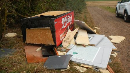 Fly-tipped waste from the Stuart Pearson prosecution. Picture: NHDC
