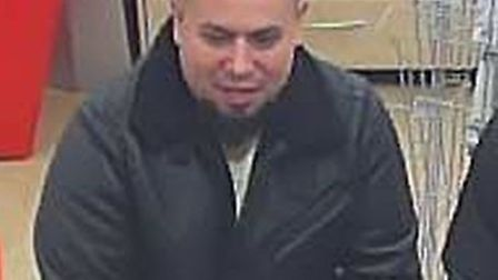 Officers investigating a fraud offence in Stevenage have released an image of a man they would like