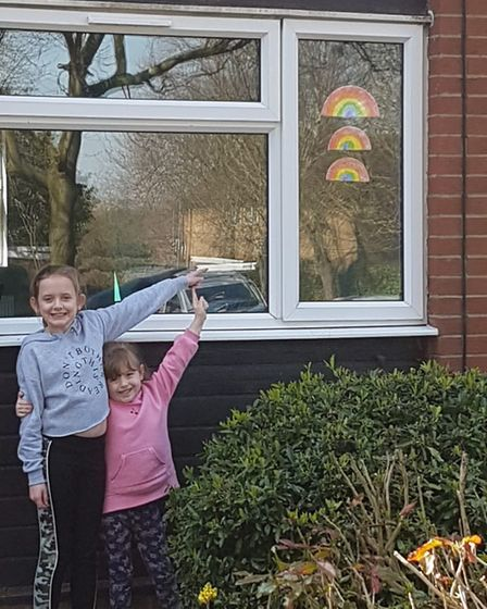 Stevenage residents and families have been showing their love for our key workers. Picture: Woolenwi